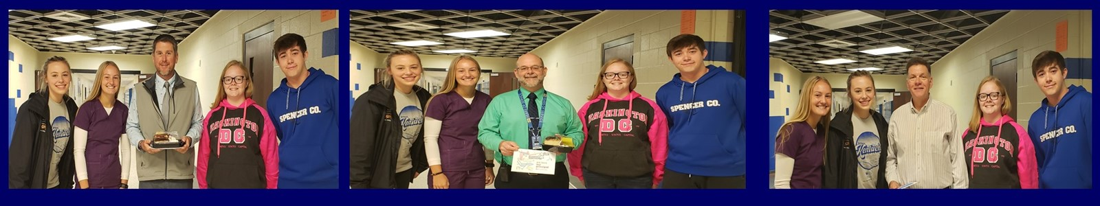 NHS OFFICERS SHOW APPRECIATION FOR SCHS PRINCIPALS