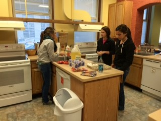Baking for the residents at the Ronald McDonald House