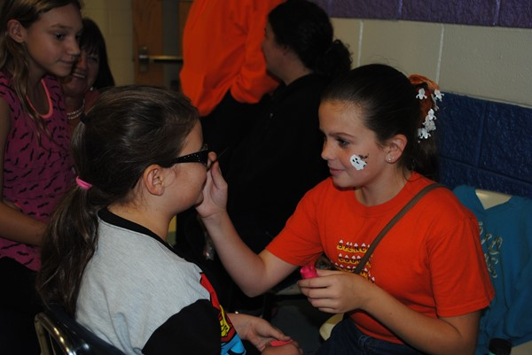 Face painting at Fall Festival