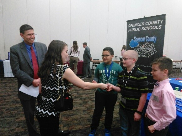 SCES Students at Teacher Recruiting Job Fair